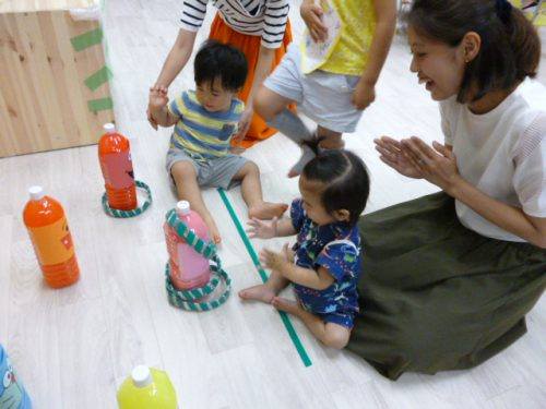 川西能勢口駅園の夏祭り